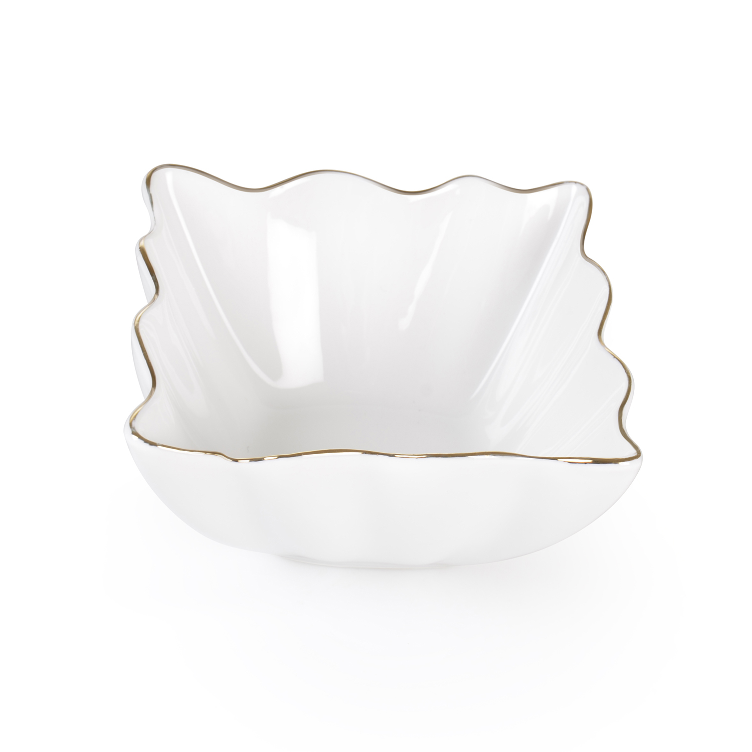 B2242/GOLD PORS YALD. WHITE BOWL 2242